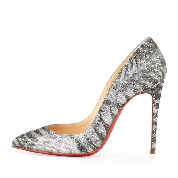 christian louboutin pigalle follies animal glitter pump